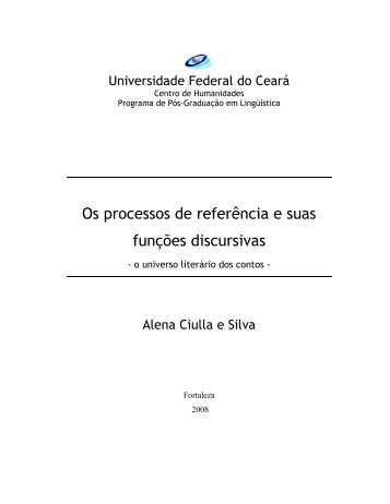 Os processos de referência e suas funções discursivas - Atilf