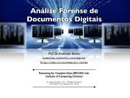 Análise Forense de Documentos Digitais - Instituto de Computação ...