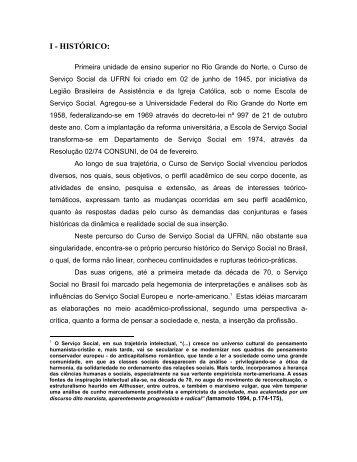 Histórico do curso - Centro de Ciências Sociais Aplicadas - UFRN