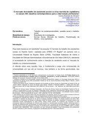 O mercado de trabalho do assistente social e a crise mundial do ...