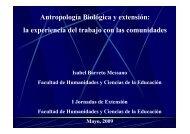 Antropología Biológica y extensión: la experiencia del trabajo