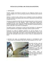 PORTAS DE PLATAFORMA: UMA TECNOLOGIA ... - CBTU