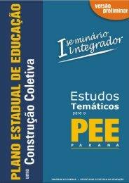 plano estadual de educação - paraná - Secretaria de Estado da ...