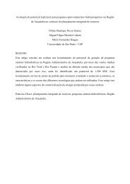 Avaliação do potencial realizável para pequenos ... - CERPCH - Unifei