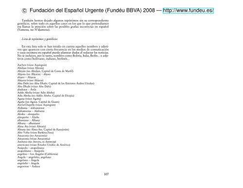 Manual De Español Urgente Topónimos Y Gentilicios