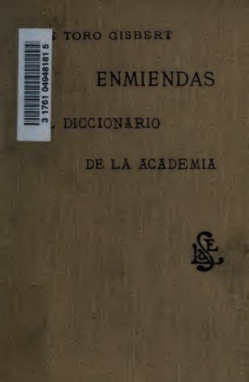 Enmiendas al Diccionario de la Academia
