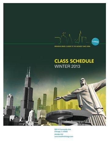 CLASS SCHEDULE - Brazil in Chicago