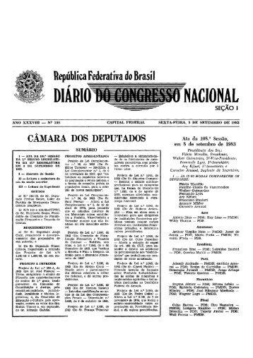 DIÁRloJlilIllIJtíNAclos~o~ - Câmara dos Deputados