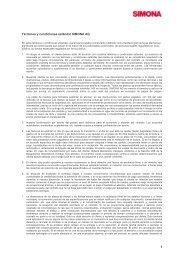 1 Términos y condiciones estándar SIMONA AG