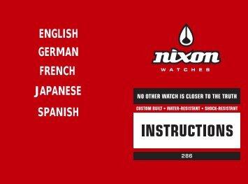 ENGLISH GERMAN FRENCH JAPANESE SPANISH - Nixon