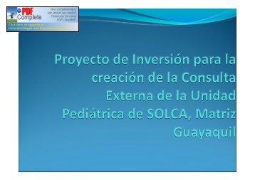Segundo Piso: Pediatría - DSpace en ESPOL