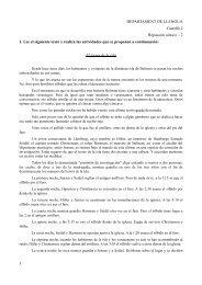 1 DEPARTAMENT DE LLENGUA Castellà 2 Repassem ... - F-eines