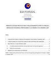 proposta de boas práticas para o relacionamento ... - ILGA Portugal