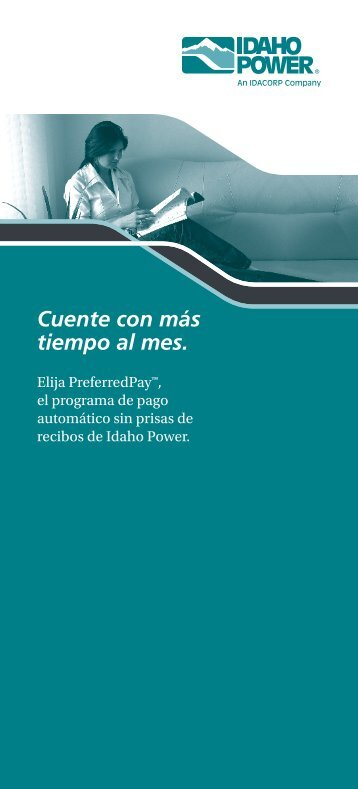 Preferred Pay Brochure Spanish - Idaho Power