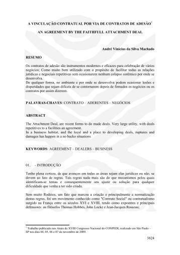 3824 A VINCULAÇÃO CONTRATUAL POR VIA DE ... - publicaDireito