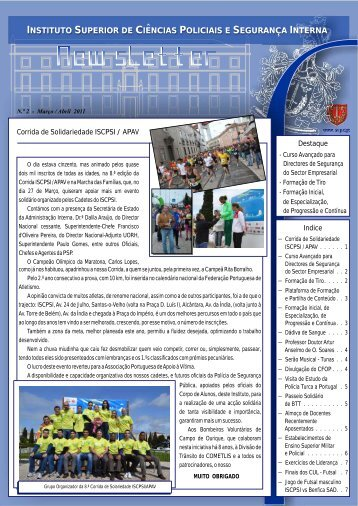 Newsletter nº 2 – Mar. / Abr. 2011 - Instituto Superior de Ciências ...