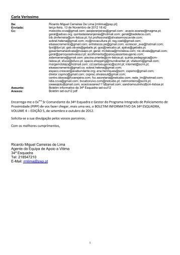 setembro/outubro 2012 - Licenciado a Freguesia de Santa Maria ...