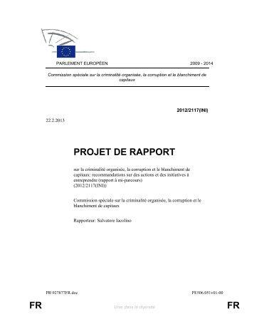 PROJET DE RAPPORT FR FR