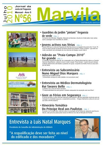 Entrevista a Luís Natal Marques - Junta de Freguesia de Marvila