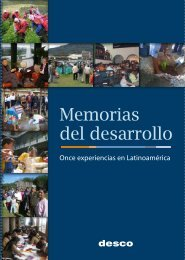 Memorias del desarrollo. Once experiencias en Latinoamérica