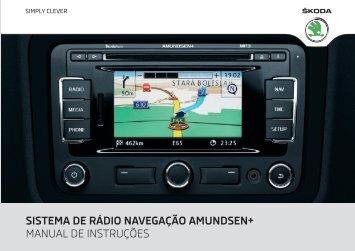 sistema de rádio navegação amundsen+ manual de instruções