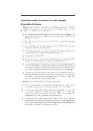 Dise˜no estructurado de sistemas de control: ejemplo Descripción ...