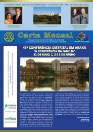 Carta Mensal - Distrito 4540