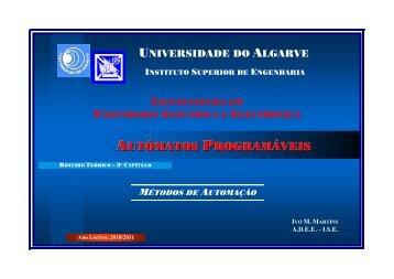 Autómatos Programáveis – Roteiro Teórico - Universidade do Algarve