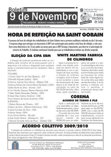 Boletim 408 - Sindicato dos Metalúrgicos do Sul Fluminense