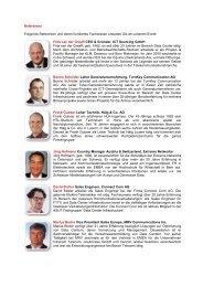 Referenten Folgende Referenten und deren ... - TurnKey Services AG