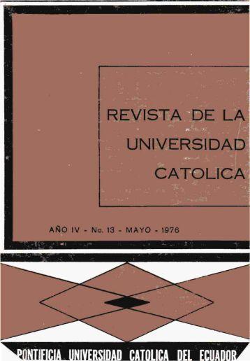 Revista 13.pdf - Pontificia Universidad Católica del Ecuador