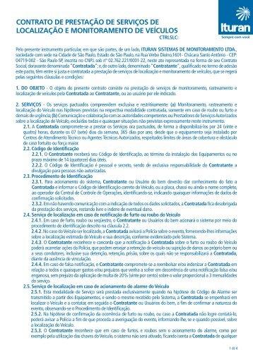 CONTRATO DE PRESTAÇÃO DE SERVIÇOS DE ... - Ituran