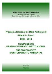 Monitoramento Ambiental - Ministério do Meio Ambiente