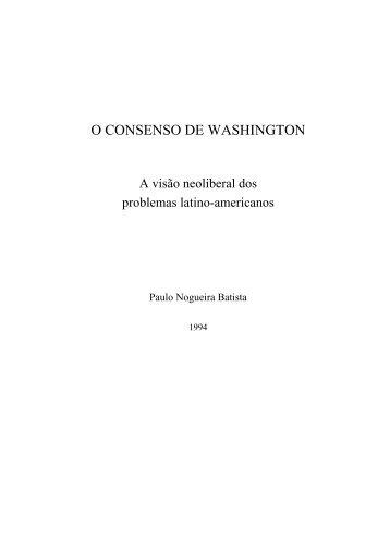 O CONSENSO DE WASHINGTON - FAU