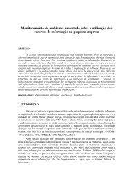 Monitoramento do ambiente: um estudo sobre a utilização ... - aedb