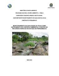 monitoramento da qualidade da água como instrumento de - CPRH