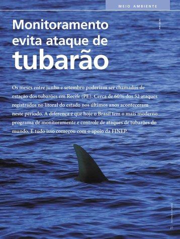 Monitoramento evita ataques de tubarão - Finep