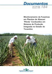 Monitoramento da fusariose em plantios de abacaxi perola