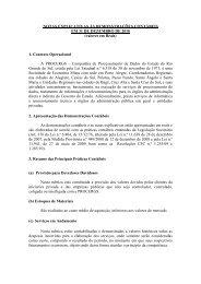Notas explicativas às Demonstrações Contábeis - Procergs