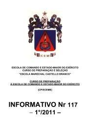 (CP/ECEME) INFORMATIVO Nr 117 - Portal de Ensino do Exército