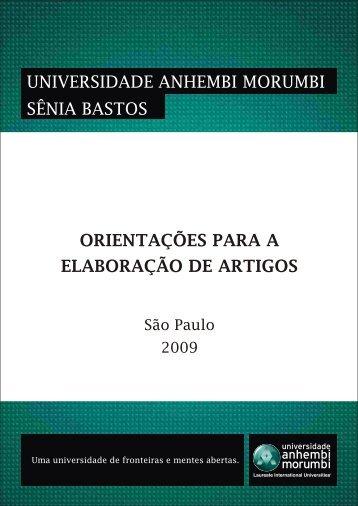 Orientações para a elaboração de Artigos - Universidade Anhembi ...