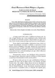 Marcas lexicais orais presentes na poesia de Manuel - Círculo ...