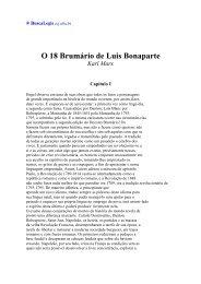 O 18 Brumário de Luis Bonaparte Karl Marx - BuscaLegis - UFSC
