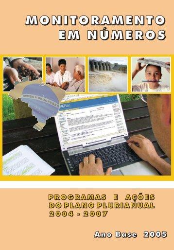 Monitoramento em números - Ministério do Planejamento