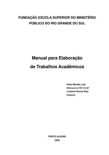 Manual para Elaboração de Trabalhos Acadêmicos - FMP