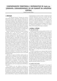 COMPORTAMENTO TERRITORIAL E ... - PDBFF - Inpa