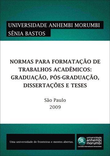 normas para formatação de trabalhos acadêmicos - Universidade ...