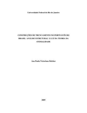 análise estrutural à luz da Teoria da Otimalidade - Faculdade de ...