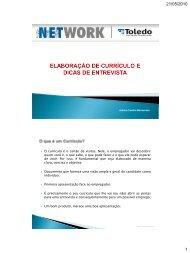 Construção de Currículo e Dicas de Entrevista - Toledo Presidente ...