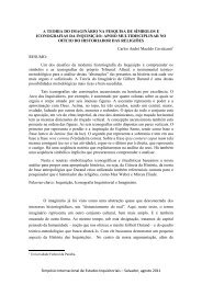 A TEORIA DO IMAGINÁRIO NA PESQUISA DE SÍMBOLOS ... - UFRB